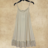 Boho Women Ivory Lace Layering Tunic Tank Top Plus Size Extender Slip L 2XL