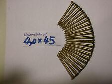 Holzschrauben, Messing, Linsensenkkopf, 4,0 x 45 mm, 20 Stück, original Reisser.