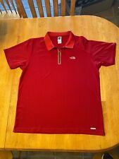Men's Northface 1/4 Golf Shirt Xl-red