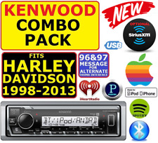 FITS 98-13 HARLEY MARINE KENWOOD AM/FM BLUETOOTH USB RADIO STEREO PKG OPT XM