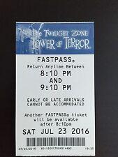 Twilight Zone Tower Of Terror Disneyland California Adventure FastPass - Closing