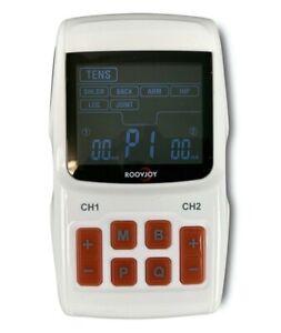 Roovjoy Digitales 2 Kanal TENS Gerät mit Massage Modus -Komplett mit Elektroden!