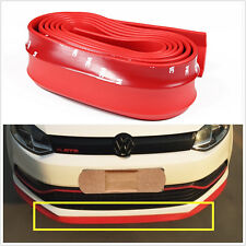 2.5M Universal Red Rubber Car Front Bumper Quick Lip Splitter Protector Body Kit