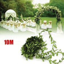 10M Artificial Leaf Leaves Vine Flower Garland Plant Wreath Foliage Green Decor