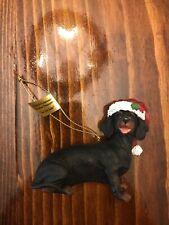 "Danbury Mint Delightful Dachshunds Christmas Ornament ""Just Like Santa � Dog"