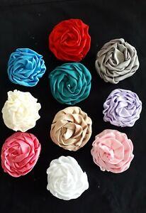 ERA Satin Carnation Lapel Pin - Cream, Pink, Lilac, Red, Grey, White, Blue, Red
