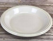 """Pfaltzgraff Cappuccino Pie Serving Plate Quiche Tan Rings 11-1/2"""""""
