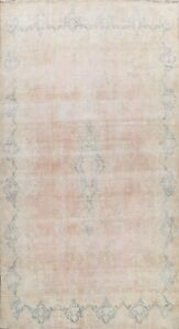 Vintage Traditional Muted Hand-knotted Area Rug Distressed Wool Oriental 10'x14'
