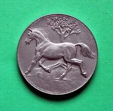 silver coloured Bronze medallion Horse breeding Redefin 1987
