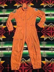 1963 K-2B Orange Very Light Pilot Coverall Flight Suit Sz Small Short Vietnam