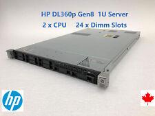 HP ProLiant DL360p G8 2xE5-2620 12 Cores 24x4GB 96GB RAM 2x PSU ILO3 2x 146G HDD