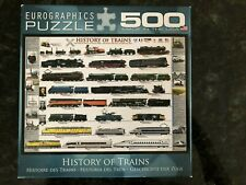 HISTORY OF TRAINS EuroGraphics Jigsaw Puzzle 500 Piece ~ COMPLETE