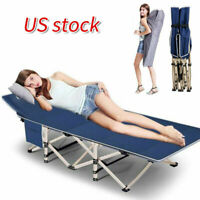 Folding Camping Cot with Carry Bag Portable Lightweight Rollaway Bed Outdoor