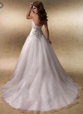 Maggie Sottero Allison Ball Gown Organza Dress Size 8 Nwt