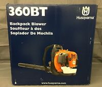 NEW, HUSQVARNA 360BT 65.6cc 2-CYCLE 232 MPH COMMERCIAL GAS LEAF BACKPACK BLOWER-