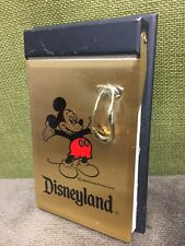 Rare Disneyland Mickey Mouse Telephone note pad metal pen holder Gold Black Red