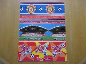 Manchester United wallpaper border samples 2000