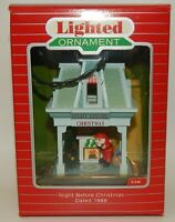 1988 Hallmark Lighted Ornament Night Before Christmas Santa Claus with Gifts MIB