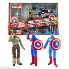Captain America Limited Edition 8-Inch Retro Action Figure Set -New in Packaging
