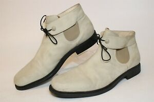 Gianni Versace Signature Italy Made Men UK 9.5 US 10 Leather Ankle Dress Boots