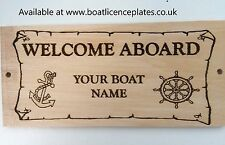 Personalised Welcome Aboard Boat Name Sign