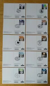 2010 The Royal Society SET OF 10 PHQ POSTCARDS USED BACK