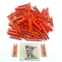 50 K/'nex Transition Micro Connector Rods Lot Orange Red Knex