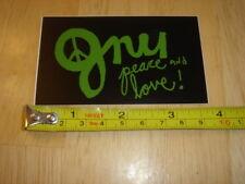 GNU Snowboard STICKER Decal NEW Peace LOVE