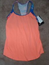 NEW TYR 2 in 1 Tankini Bathing Swim Suit Coral/Blue Women Top XS X-Small 0 2 NWT