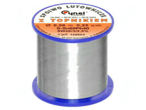 LC60-0.56/0.25 Soldering wire; Sn60Pb40; 0.56mm; 0.25kg; lead-based 'UK COMPANY