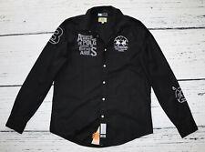 LA MARTINA Men's Black Cotton LS Casual Shirt !  size L