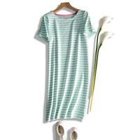 NEW EX JOULES UK 16 EU 44 DE 42 RIVIERA GREEN WHITE STRIPE  JERSEY TUNIC DRESS