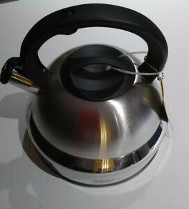 New Stainless Steel 5.3 qt. Whistling Tea Kettle Black+Decker 18DSMSGC