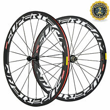 700C Bicycle Wheels 50mm Carbon Wheelset Clincher USA In Stock Cycle Wheel Hot