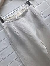OYSHO Mélange De Lin Jambe Large Pantalon raccourci blanc cassé/Crème Petites Summer Pants