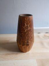 Petit vase en bois gravé vintage GRENOBLE