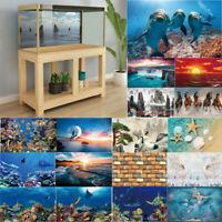 3D Sea Aquarium Background Sticker Poster Fish Tank Backdrop Decor Decal Home