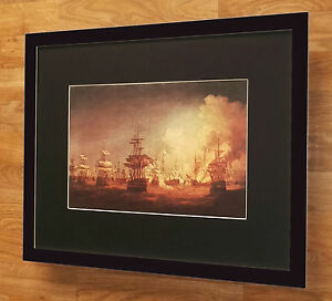 Battle of the Nile - End of Action 1978 - Thomas Whitcombe, 20''x16'' frame