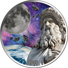 5 Cedis Ghana 2019 - Leonardo da Vinci heliocentric theory III 2019