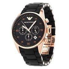 NEW Emporio Armani AR5905 Black and Rose Gold Sportivo Chronograph Men's Watch