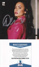 "New ListingBeckett Pop Star Demi Lovato Signed ""I Love Me"" Cd Cover-Insert V76755"