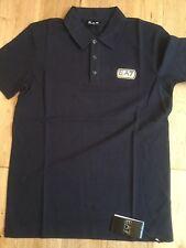EA7 Emporio Armani Black Polo Shirts size small