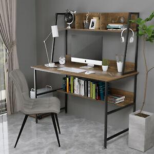 Mecor Wood Computer Desk PC Laptop Table w/ Shelf Workstation Study Home Office