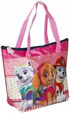 PAW PATROL Girls Shopping Tote Bag 29cm x 21cm Zipped Closing Kids Shopper Bag