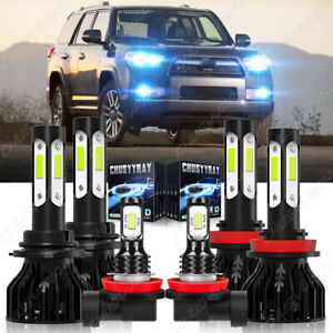 For Toyota 4Runner 2010-2020 Hi/Lo Beam Fog Light LED Headlight Bulbs 8000K Kit