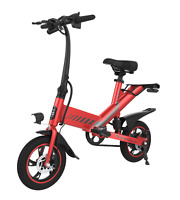 Electric Folding Bicycle 36V 7.5Ah 350W Dual Power Mode C3 City eBike Red
