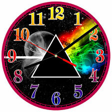 "8"" WALL CLOCK - PINK FLOYD 1 Dark Side of the Moon Rock Kitchen Bar Bedroom Cave"