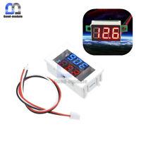 3-Digital Dual Red+Blue LED Display Voltage Voltmeter Ammeter Meter 4-30V/100V