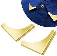 2 Piezas Blusa Camisa Metálico Metal Cuello señalado Clips punteras DE ALA Nr 5