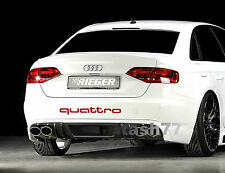 QUATTRO AUDI A3 A4 A6 A8 RS3 RS4 Q5 S- Line Racing Decal sticker emblem logo RED